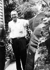 Eugene Otto in his garden